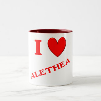 I Love Alethea Mug