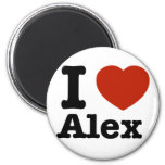 I love Alex Refrigerator Magnets