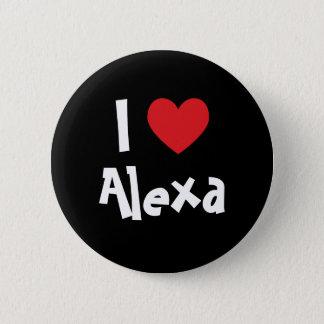 I Love Alexa 6 Cm Round Badge