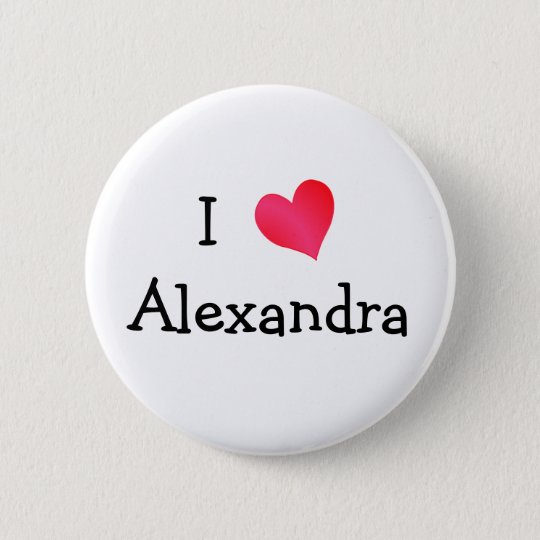 I Love Alexandria 6 Cm Round Badge