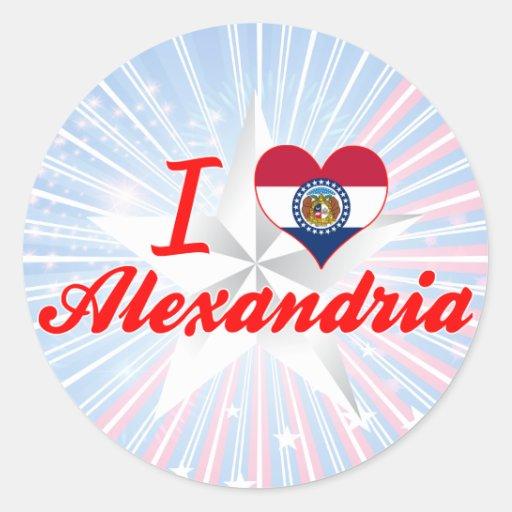 I Love Alexandria, Missouri Stickers