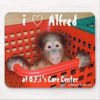 I Love Alfred the Baby Orangutan Mouse Pad