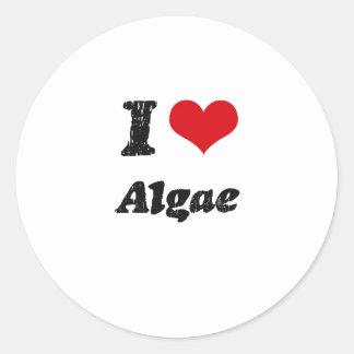 I Love Algae Round Sticker