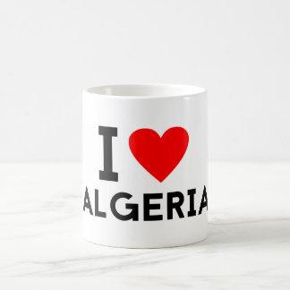 i love Algeria country nation heart symbol text Coffee Mug