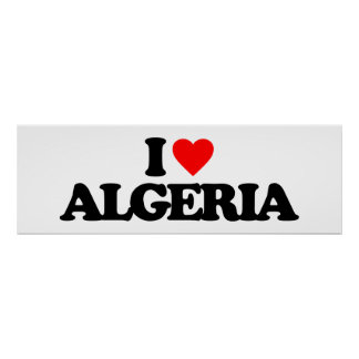 I LOVE ALGERIA POSTER