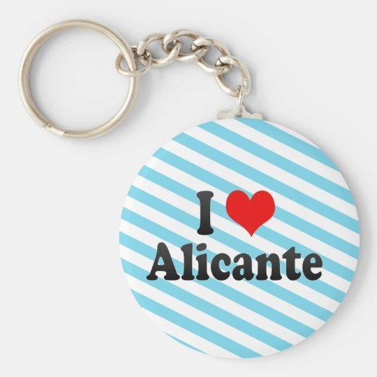 I Love Alicante, Spain Basic Round Button Key
