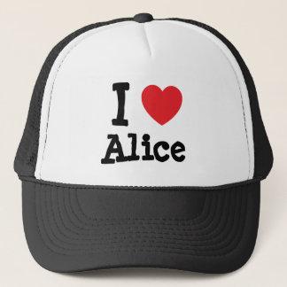 I love Alice heart T-Shirt Trucker Hat