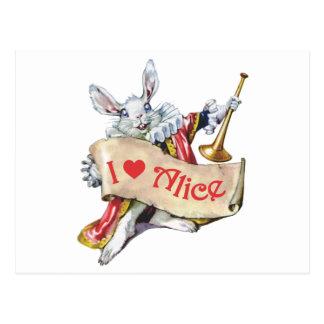 I LOVE ALICE IN WONDERLAND POSTCARD