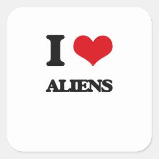 I Love Aliens Sticker