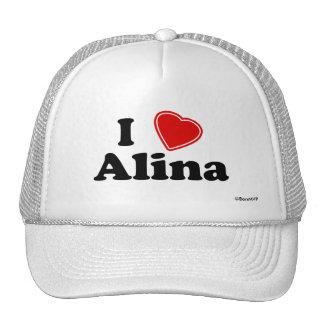 I Love Alina Trucker Hat