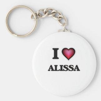 I Love Alissa Basic Round Button Key Ring