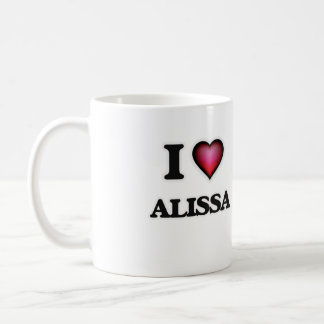 I Love Alissa Basic White Mug