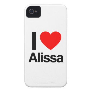 i love alissa Case-Mate iPhone 4 cases