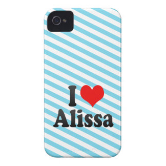 I love Alissa iPhone 4 Case-Mate Cases