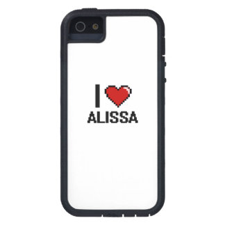 I Love Alissa Digital Retro Design Tough Xtreme iPhone 5 Case