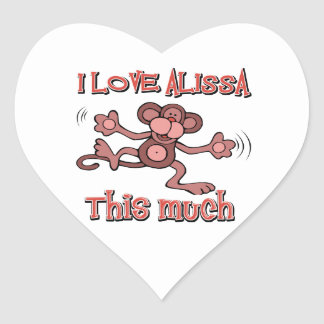 I Love alissa Heart Sticker