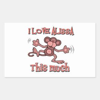 I Love alissa Rectangular Sticker