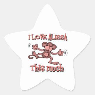 I Love alissa Star Sticker