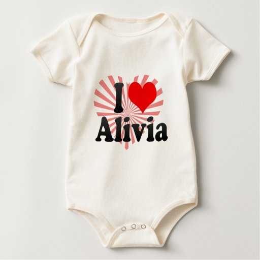 I love Alivia Baby Bodysuit
