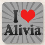 I love Alivia Beverage Coasters