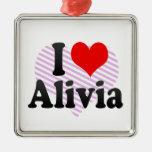 I love Alivia Christmas Tree Ornament