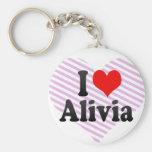 I love Alivia Keychain