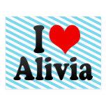 I love Alivia Postcards