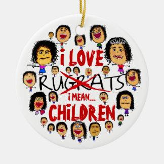 I Love All Children Cartoon Christmas Ornament
