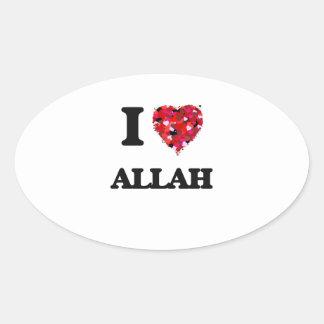 I Love Allah Oval Sticker