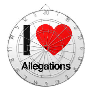 i love allegations dartboard