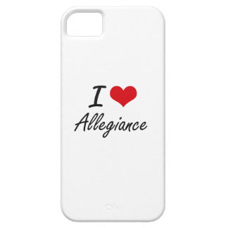 I Love Allegiance Artistic Design Barely There iPhone 5 Case