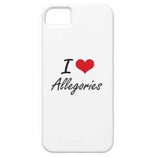 I Love Allegories Artistic Design Barely There iPhone 5 Case