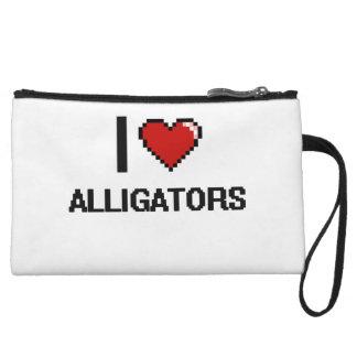 I love Alligators Digital Design Wristlet Clutch