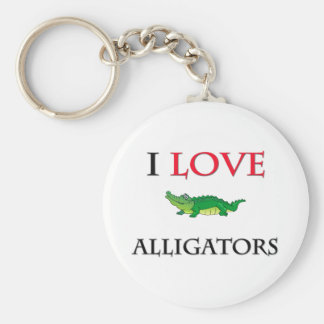 I Love Alligators Key Ring