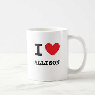 I Love Allison Coffee Mug