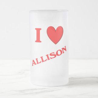I Love Allison Mugs