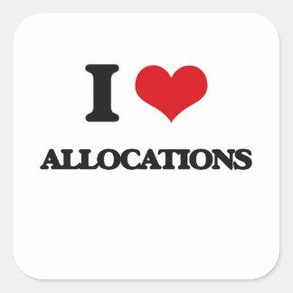 I Love Allocations Sticker