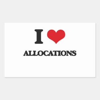 I Love Allocations Rectangle Sticker