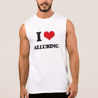 I Love Alluring Sleeveless T-shirts