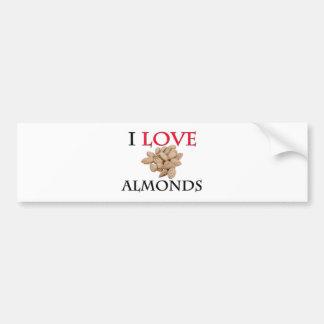 I Love Almonds Bumper Sticker