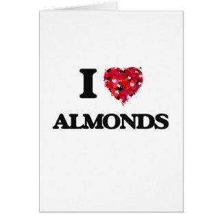I Love Almonds food design Card
