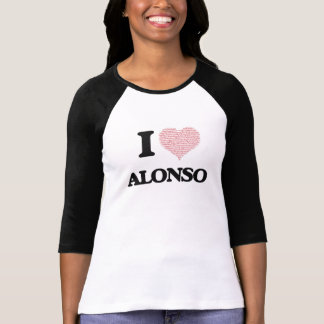 I Love Alonso (Heart Made from Love words) Shirt