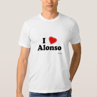 I Love Alonso Shirts