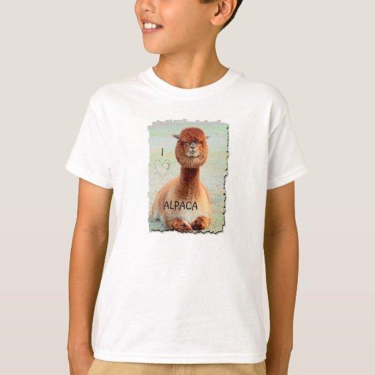 I Love Alpaca T-shirt