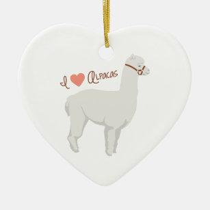 i love alpacas christmas ornament