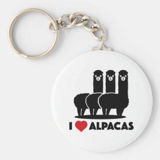 I Love Alpacas Key Ring