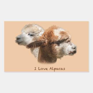 I love Alpacas Rectangle Stickers