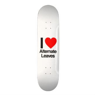 i love alternate leaves skate board