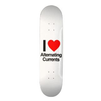 i love alternating currents custom skateboard