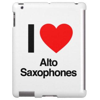 i love alto saxophones iPad case